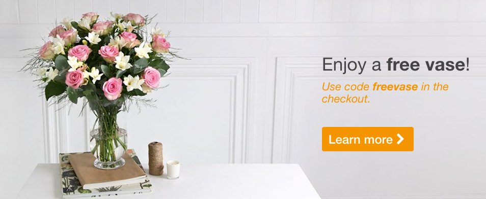 Free Vase Promotion At Arena Flowers
